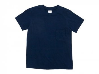 YAECA STOCK POCKET T-SHIRTS NAVY 〔レディース〕