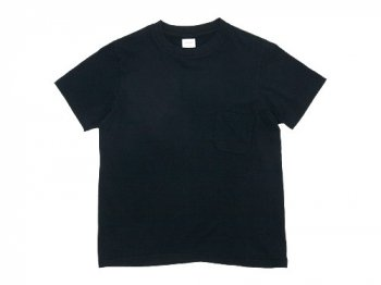 YAECA STOCK POCKET T-SHIRTS BLACK 〔レディース〕
