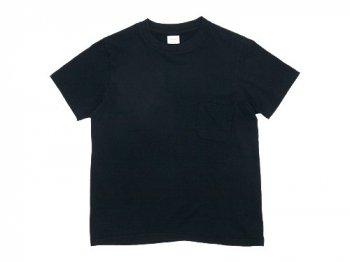 YAECA STOCK ポケットTシャツ BLACK 〔レディース〕