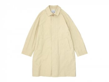 YAECA SOUTIEN COLLAR COAT SHORT BEIGE 〔メンズ〕