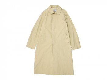 YAECA SOUTIEN COLLAR COAT LONG BEIGE 〔メンズ〕