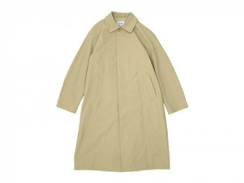 YAECA SOUTIEN COLLAR COAT LONG KHAKI 〔メンズ〕