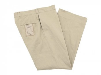 YAECA CHINO CLOTH PANTS STRAIGHT BEIGE 〔メンズ〕