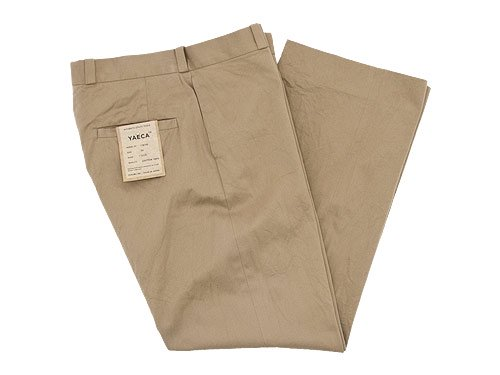 YAECA CHINO CLOTH PANTS STRAIGHT KHAKI 〔メンズ〕