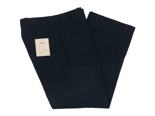 YAECA CHINO CLOTH PANTS STRAIGHT BLACK 〔メンズ〕