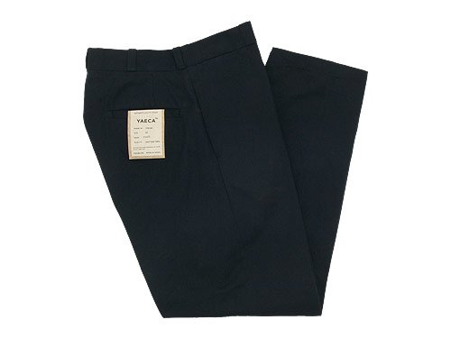 YAECA CHINO CLOTH PANTS WIDE TAPERED BLACK 〔メンズ〕