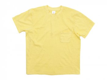 YAECA STOCK ポケットTシャツ YELLOW 〔メンズ〕