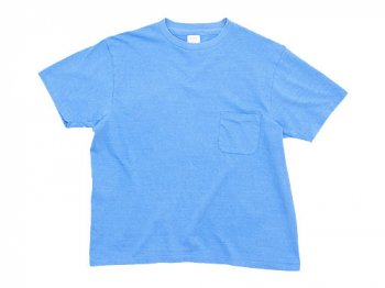 YAECA STOCK ポケットTシャツ BLUE 〔メンズ〕
