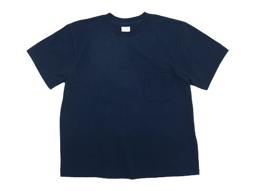 YAECA STOCK POCKET T-SHIRTS NAVY 〔メンズ〕