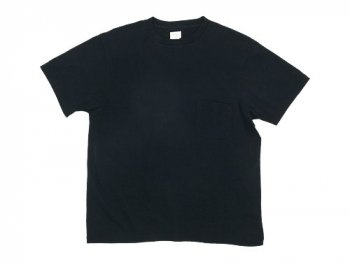 YAECA STOCK POCKET T-SHIRTS BLACK 〔メンズ〕