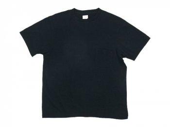 YAECA STOCK ポケットTシャツ BLACK 〔メンズ〕