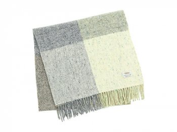 Studio Donegal TWEED MUFFLER LIGHT GRAY B