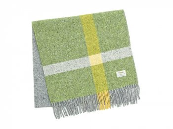 Studio Donegal TWEED MUFFLER LIGHT GREEN x GRAY E