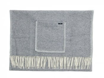 maillot wool shawl blanket LIGHT GRAY