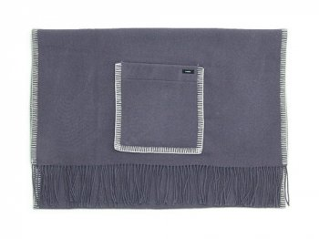maillot wool shawl blanket GRAY