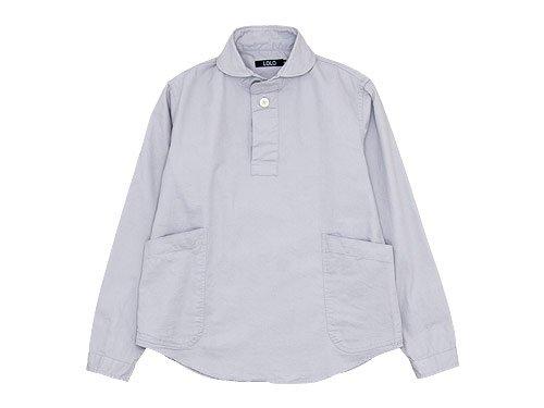 LOLO コットンプルオーバーシャツ GRAY