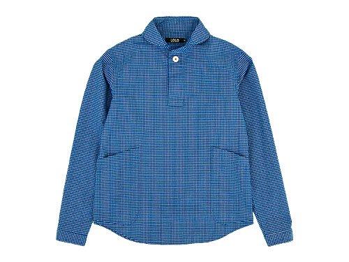 LOLO プルオーバーシャツ グラフチェック BLUE x WHITE