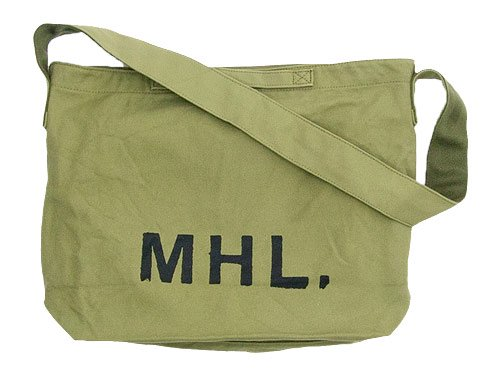 MHL. HEAVY CANVAS SHOULDER BAG / TWISTED COTTON SLUB SOCKS