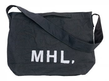 MHL. HEAVY CANVAS SHOULDER BAG 024CHARCOAL
