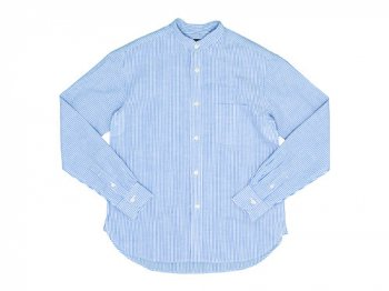 maillot linen cotton stripe stand shirts