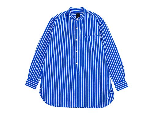 maillot wide stripe stand long shirts BLUE x BLUE