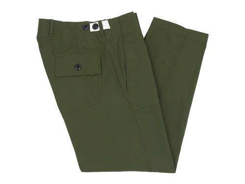 maillot military cloth easy baker pants OLIVE