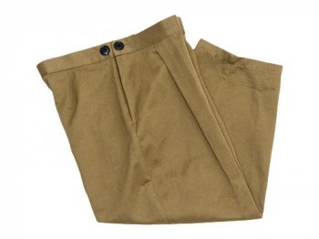 Lin francais d'antan Salvador tack pants Cotton Linen KHAKI