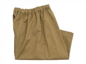 Lin francais d'antan Pauly gathered pants Cotton Linen KHAKI