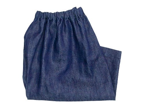 Lin francais d'antan Pauly gathered pants Hemp DARK INDIGO