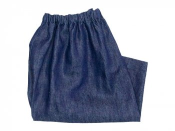 Lin francais d'antan Pauly gathered pants Hemp DARK INDIGO