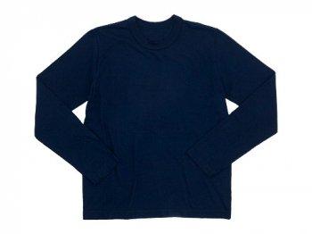 Lin francais d'antan Peguy Long Sleeve T-shirts NAVY