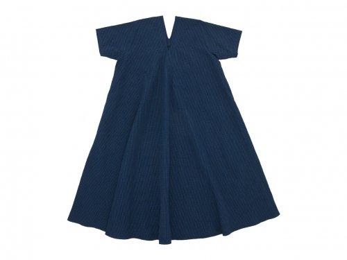 Lin francais d'antan Varda(ヴァルダ)tent dress NAVY x BLACK CHECK