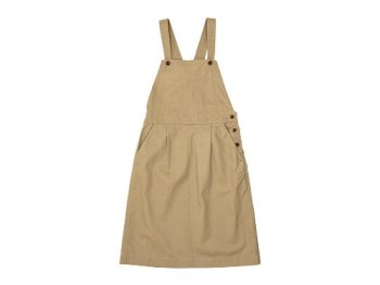 MHL. JAPANESE COTTON LINEN DRILL APRON DRESS 040BEIGE 〔レディース〕