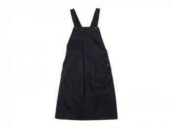 MHL. JAPANESE COTTON LINEN DRILL APRON DRESS 121NAVY 〔レディース〕
