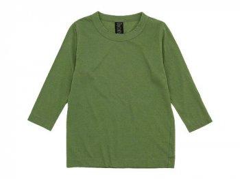 homspun 天竺七分袖Tシャツ オリーブグリーン