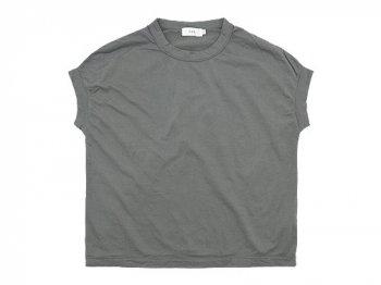 RINEN 60/2スーピマ天竺 フレンチスリーブTシャツ 03グレー 〔レディース〕