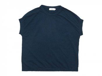 RINEN 60/2スーピマ天竺 フレンチスリーブTシャツ 05ネイビー 〔レディース〕