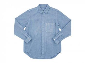 THE HINOKI リネンコットン ポケットワークシャツ SAX