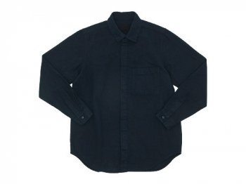 THE HINOKI リネンコットン ポケットワークシャツ NAVY