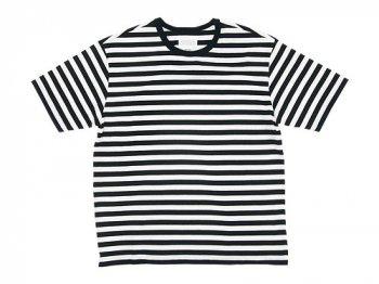 THE HINOKI オーガニックコットン 半袖ボーダーTシャツ WHITE x BLACK