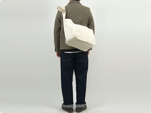 ENDS and MEANS HBT Newspaper Bag NATURAL