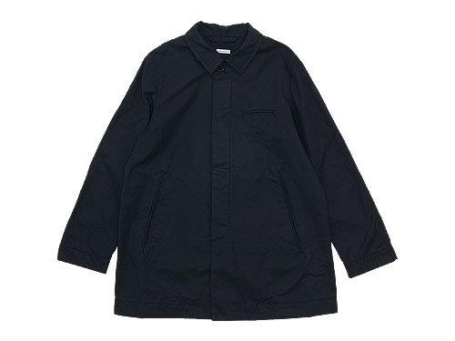 homspun 60/2ギャバ ステンカラージャケット ブラック