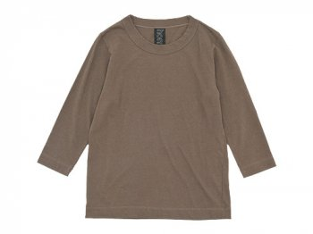 homspun 天竺七分袖Tシャツ ライトブラウン