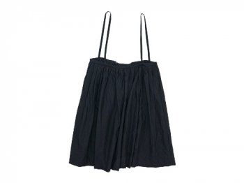TOUJOURS Drawstring Suspender Skirt BLACK