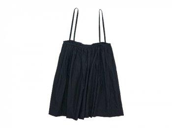TOUJOURS Drawstring Suspender Skirt BLACK