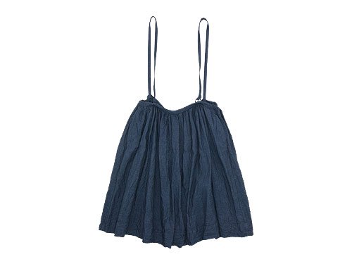 TOUJOURS Drawstring Suspender Skirt INDIGO BLUE 【TM26MK02】