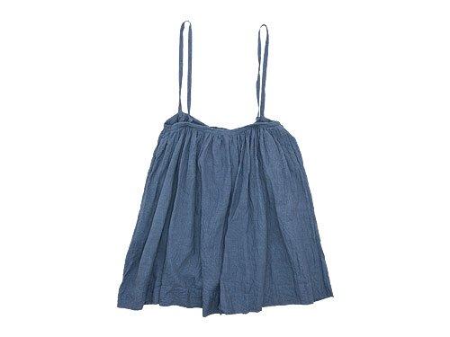TOUJOURS Drawstring Suspender Skirt INDIGO GRAY