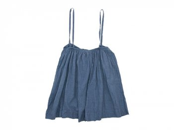 TOUJOURS Drawstring Suspender Skirt INDIGO GRAY 【TM26MK02】