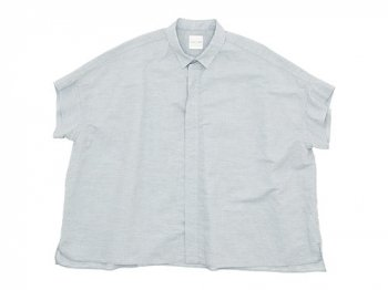 TOUJOURS Short Sleeve Wide Shirt SMOKE GRAY
