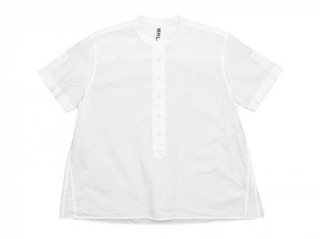 MHL. COTTON RAMIE POPLIN P/O SHIRT 030WHITE 〔レディース〕